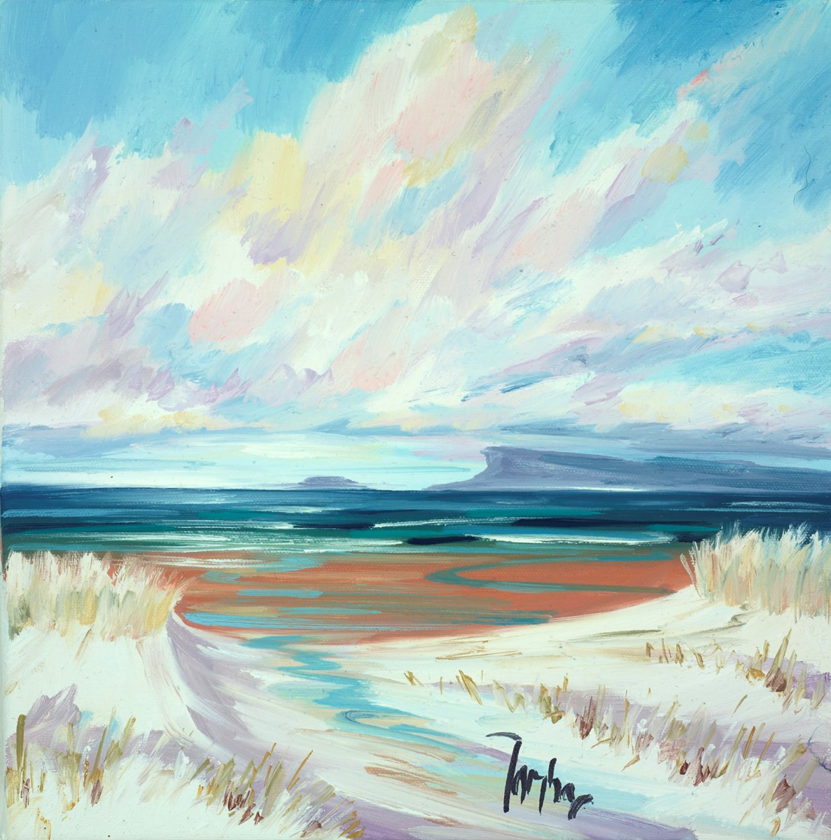 Arisaig Sands III by tom barron -  sized 12x12 inches. Available from Whitewall Galleries